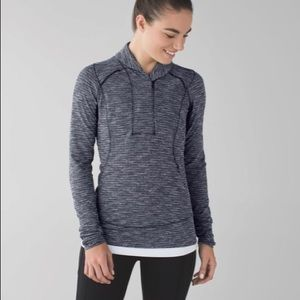 """Think Fast"" ""ready or snot"" Lululemon pullover"